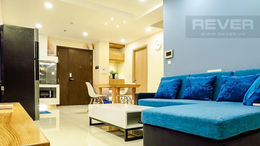Phòng Khách Căn hộ RiverGate Residence tầng cao, 2PN, đầy đủ nội thất, view kênh Bến Nghé