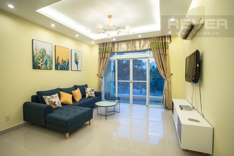 Phòng Khách Cho thuê căn hộ Riverside Residence, tầng thấp, đầy đủ nội thất, hướng Đông đón gió