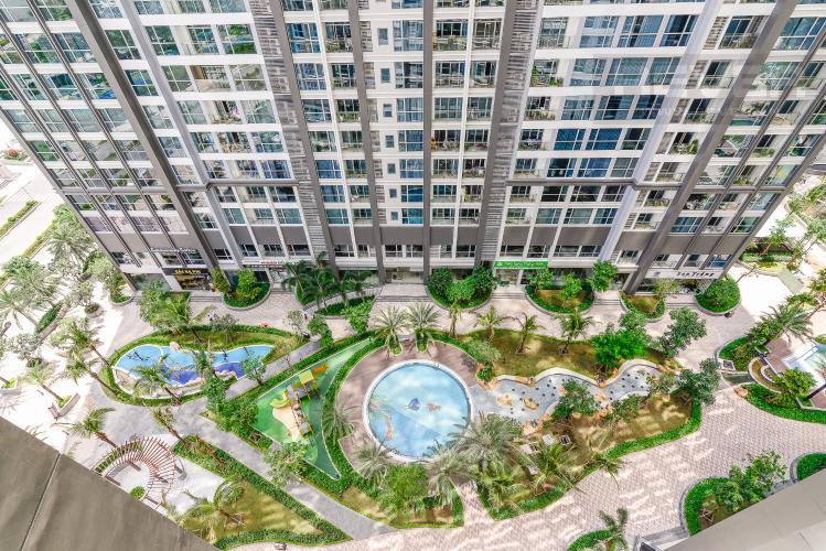 View Căn hộ Vinhomes Central Park 2 phòng ngủ, tầng trung P2, nội thất đầy đủ