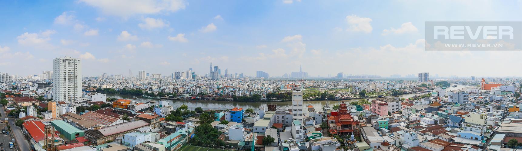 View Phòng Master Căn hộ M-One Nam Sài Gòn 3 phòng ngủ tầng trung T1 nội thất đầy đủ