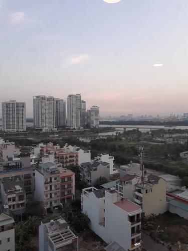 view Căn hộ The Sun Avenue  Căn hộ tầng trung block 07 The Sun Avenue - view Đảo Kim Cương và Landmark 81