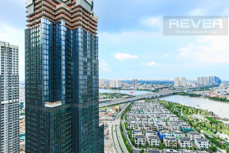 View Căn hộ Vinhomes Central Park tầng cao, tháp Landmark 1, 3PN, nội thất cơ bản