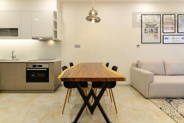 Phòng Ăn Cho thuê căn hộ Vinhomes Golden River 1PN, tầng cao tháp The Aqua 1, đầy đủ nội thất, view sông tuyệt đẹp