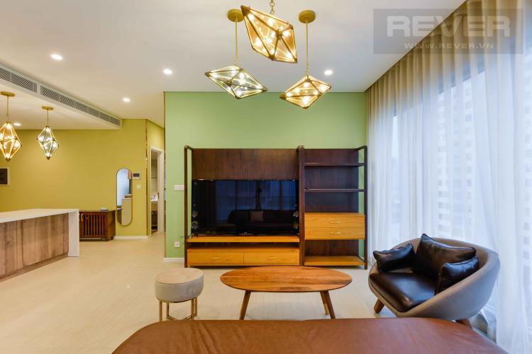 Phòng Khách Bán căn hộ Diamond Island - Đảo Kim Cương 3PN, đầy đủ nội thất, thiết kế ấn tượng, view trực diện hồ bơi