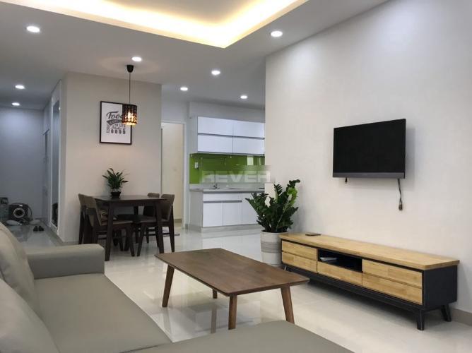 Bán căn hộ Sky Garden 3 nội thất đầy đủ tiện nghi với gam màu lạnh.