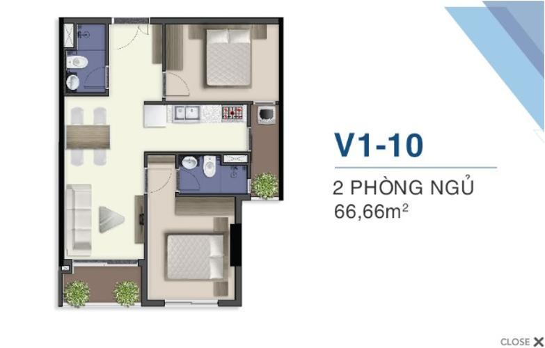 Bán căn hộ Q7 Saigon Riverside thuộc tầng cao, diện tích 66.66m2