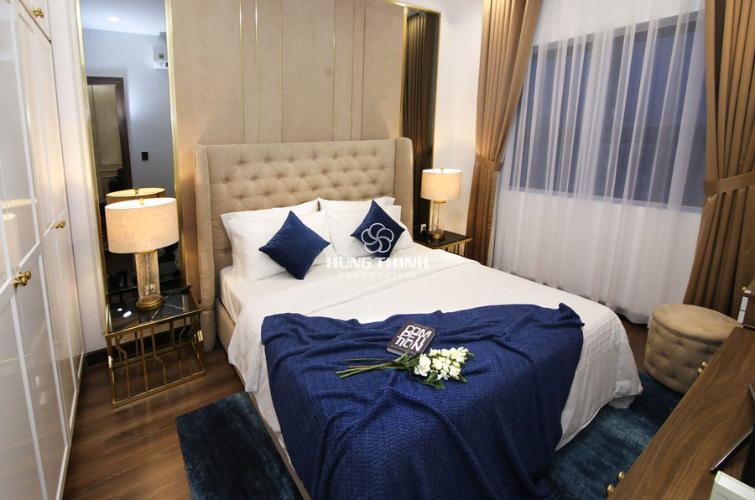 Nội thất phòng ngủ master Căn hộ Q7 Saigon Riverside tầng trung, ban công hướng Bắc.