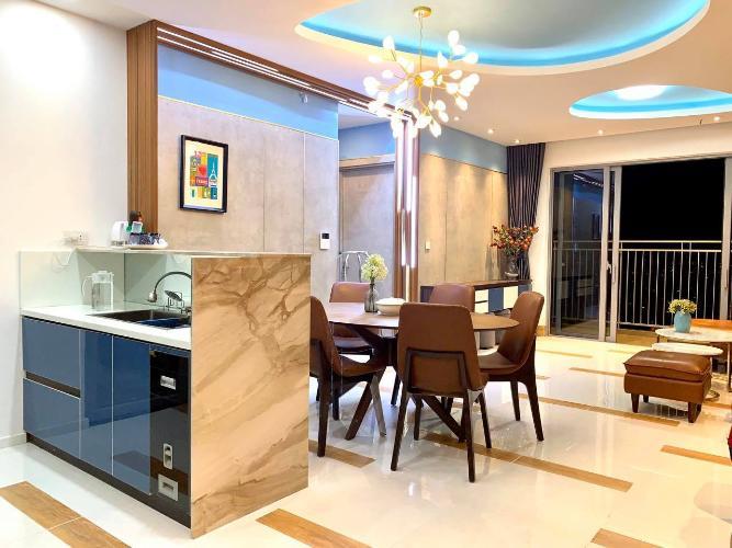 Phòng ăn và bếp căn hộ Palm Heights Cho thuê căn hộ Palm Heights 3 phòng ngủ, diện tích sử dụng 105m2, đầy đủ nội thất cao cấp