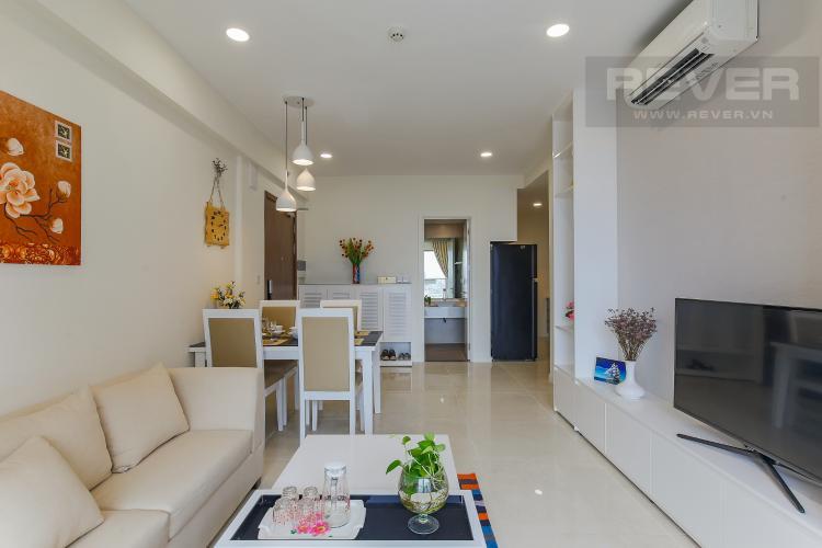 Phòng Khách Căn hộ Masteri Millennium tầng cao, block A, 2PN đầy đủ nội thất