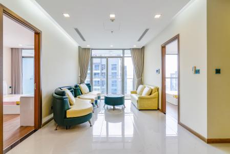 Căn hộ Vinhomes Central Park 3 phòng ngủ tầng cao P7 nội thất đầy đủ