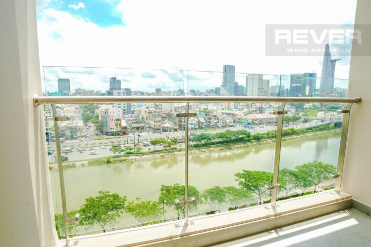 Ban Công Cho thuê căn hộ Masteri Millennium 2PN, block A, đầy đủ nội thất, view sông, Bitexco và Landmark 81