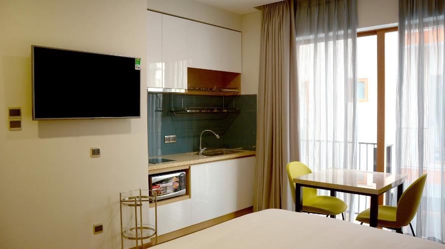Căn hộ dịch vụ Kim Residence đầy đủ nội thất, view thoáng mát.