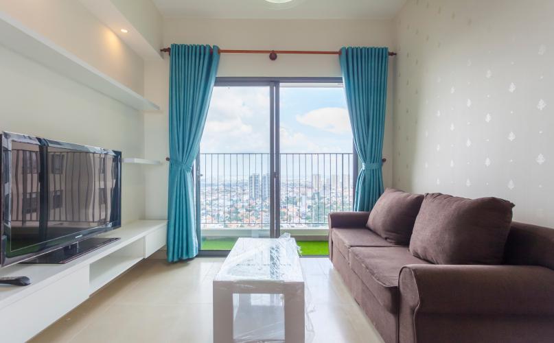 Phòng khách hiện đại Căn hộ Masteri Thảo Điền tầng cao tháp T1B view đẹp