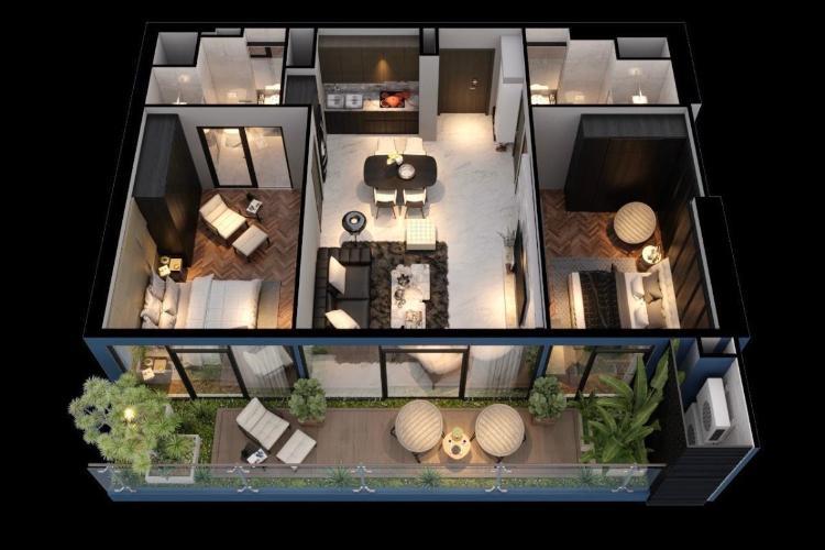 Căn hộ Sunshine Diamond River tầng cao, nội thất cơ bản.