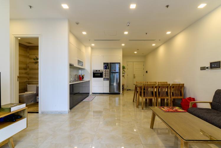 Cho thuê căn hộ Vinhomes Golden River 70m2 2PN 2WC, nội thất đầy đủ, view sông