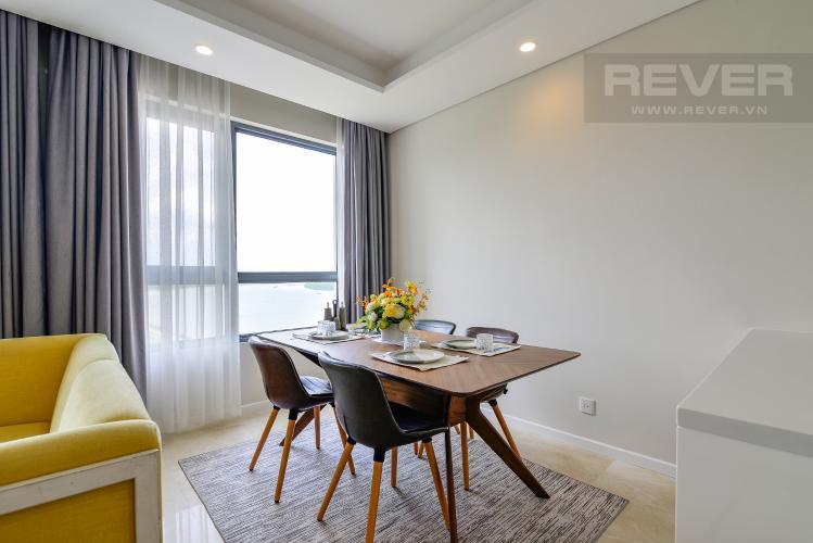 Phòng Ăn Cho thuê căn hộ Diamond Island - Đảo Kim Cương 2PN, đầy đủ nội thất, view sông Sài Gòn thoáng mát