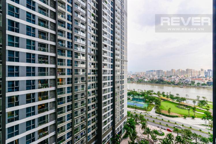 View Cho thuê căn hộ Vinhomes Central Park tháp Park 1 tầng trung, 2PN đầy đủ nội thất