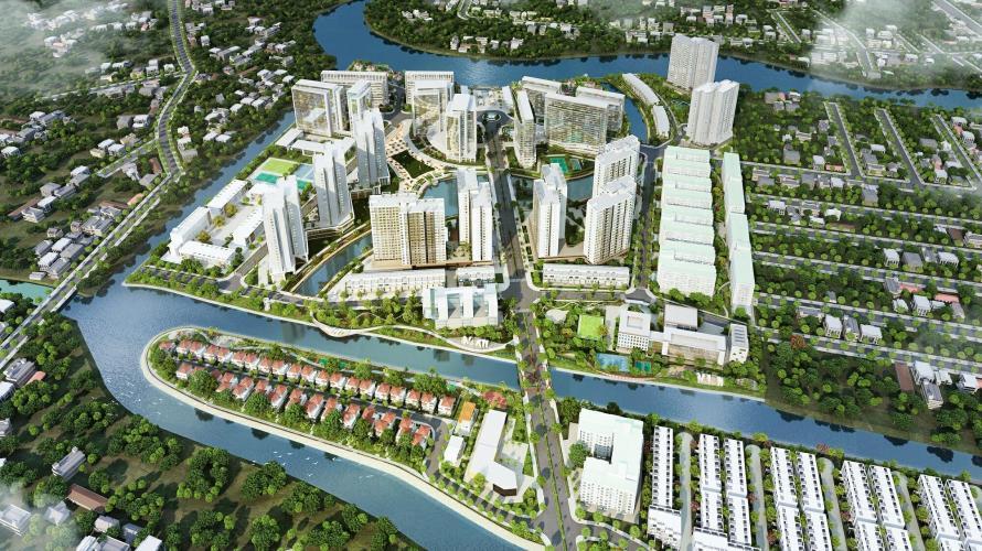 tổng quan dự án căn hộ mizuki park Căn hộ Mizuki Park view cây xanh, sàn lót gỗ, nội thất cơ bản.