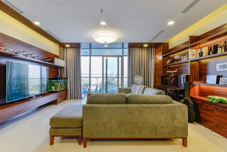 Căn hộ Vinhomes Central Park 4 phòng ngủ tầng thấp P2 view sông
