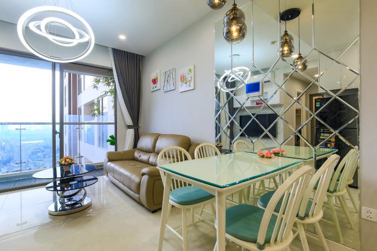 Cho thuê căn hộ Masteri Millennium tầng cao, 2PN đầy đủ nội thất view sông