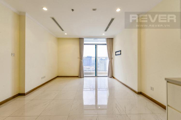 Phòng khách Căn hộ Vinhomes Central Park tầng cao 1PN nội thất cơ bản