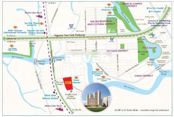 Vị trí Saigon South Residence Căn hộ Saigon South Residence ban công hướng Đông, nội thất đầy đủ.