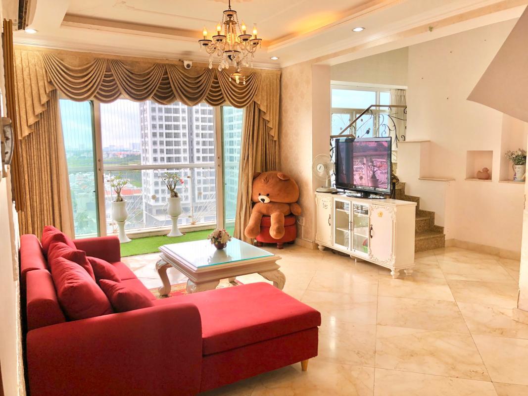 chung-cu-hoang-anh-gia-lai-3-phong-khach Bán hoặc cho thuê căn hộ duplex 5PN Hoàng Anh Gia Lai 3, tầng trung, diện tích 242m2, đầy đủ nội thất