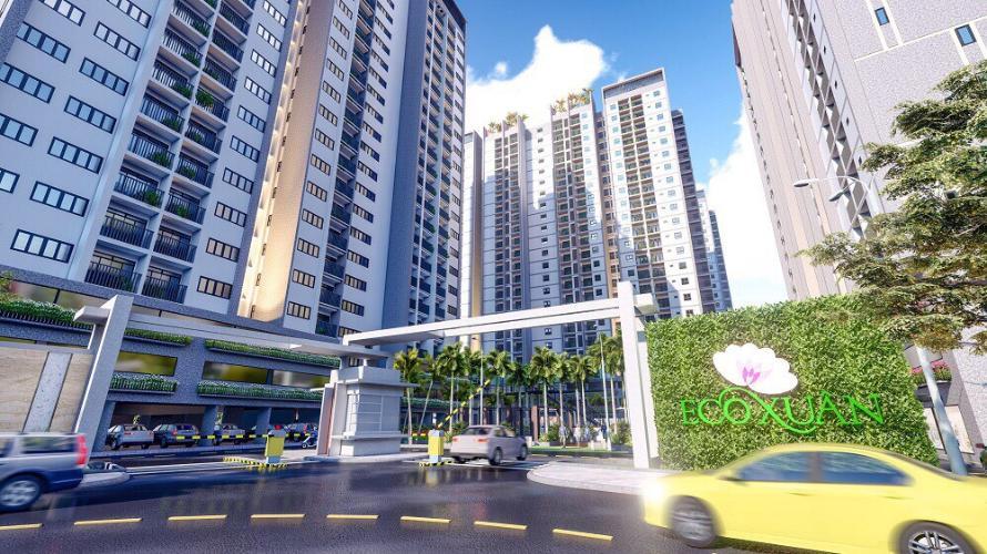 Mặt tiền Eco Xuân Căn hộ Eco Xuân tầng 12B cửa hướng Tây Bắc, thiết kế hiện đại