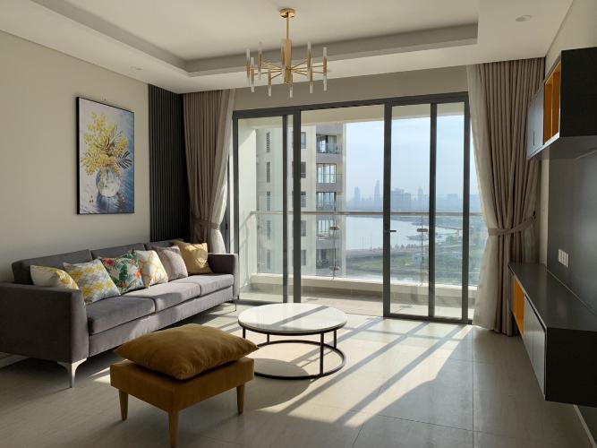 Phòng khách Diamond Island Quận 2 Căn hộ Đảo Kim Cương đầy đủ nội thất, view thành phố.