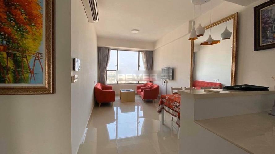 Phòng khách căn hộ River Gate Q.4 Căn hộ River Gate đầy đủ nội thất view thành phố thoáng mát.