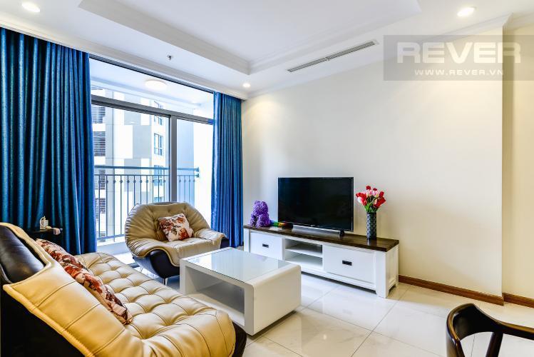 Phòng Khách Cho thuê căn hộ Vinhomes Central Park tầng cao, 2PN đầy đủ nội thất, view nội khu