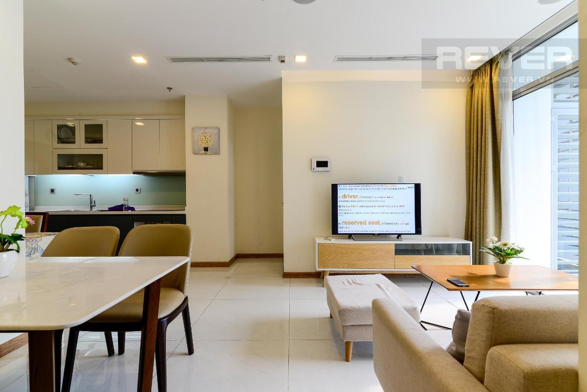 1 Cho thuê căn hộ Vinhomes Central Park 2PN, tầng thấp, diện tích 75m2, đầy đủ nội thất, view nội khu