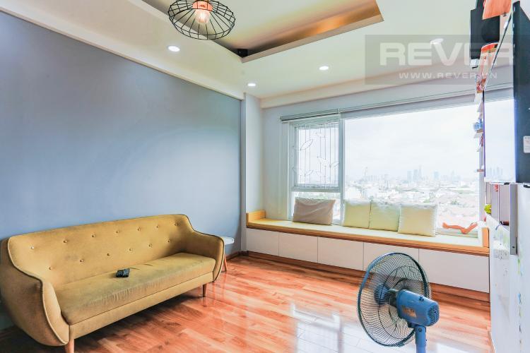 Phòng Khách Căn hộ E-Home 5 The Bridgeview tầng cao, tháp B, 2 phòng ngủ, view sông.