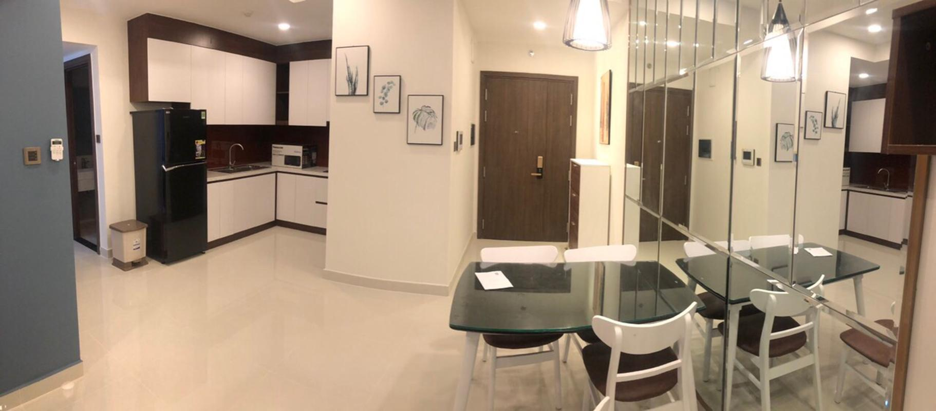660e55f1a90a4e54171b Cho thuê căn hộ Saigon Royal 2PN, tầng 21, tháp A, diện tích 80m2, đầy đủ nội thất, hướng Đông Bắc