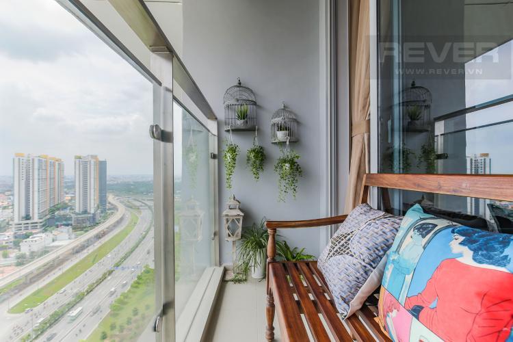 Balcony Bán căn hộ Estella Heights 1PN, tầng cao, tháp T3, đầy đủ nội thất, view Quận 2