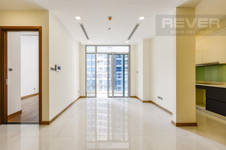 Phòng khách Căn hộ Vinhomes Central Park 3 phòng ngủ tầng thấp P2 view sông