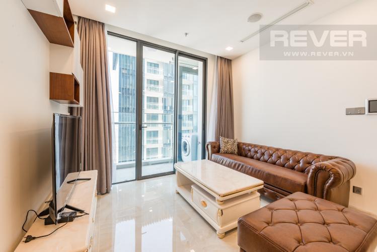 Phòng khách Căn hộ officetel Vinhomes Golden River tầng cao, đầy đủ nội thất, khu vực đa tiện ích