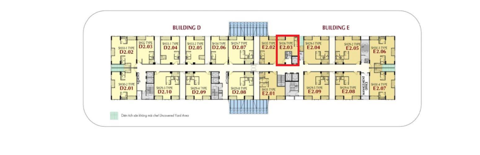 Shop-house Phú Mỹ Hưng Midtown bàn giao thô, diện tích 61.78m2.
