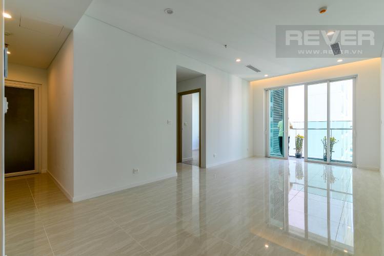 Phòng Khách Bán căn hộ Sadora Sala Đại Quang Minh 2PN 2WC nội thất cơ bản, view hồ bơi