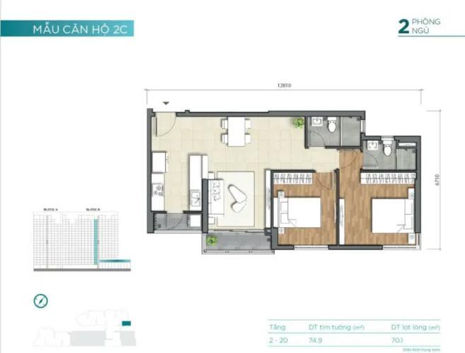 layout căn số 17 tháp B dự án D'Lusso quận 2 Căn hộ D'Lusso bàn giao nội thất cơ bản, view thoáng mát.