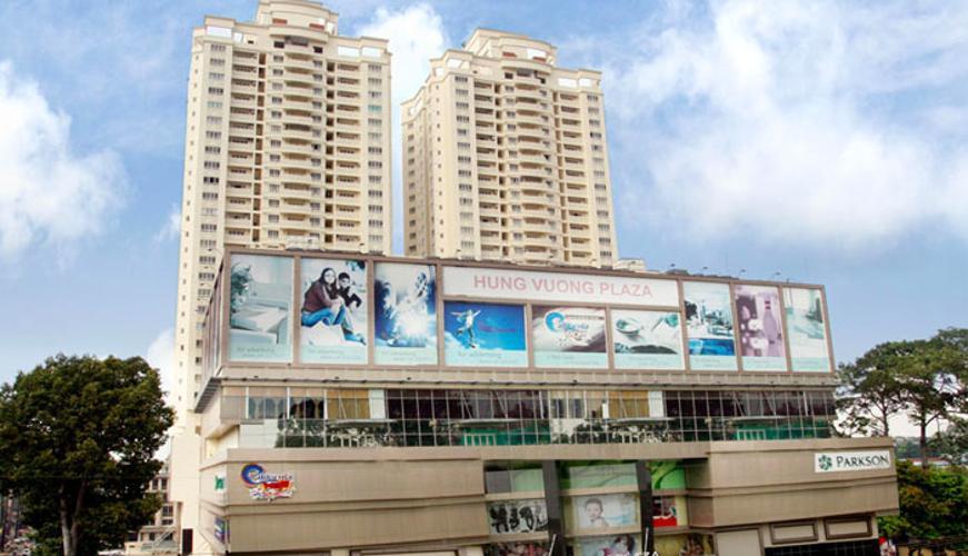Chung cư Hùng Vương Plaza Căn hộ chung cư Hùng Vương Plaza đầy đủ nội thất, 3 phòng ngủ.