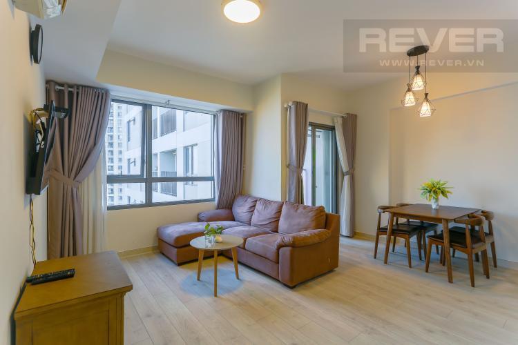 Phòng Khách Bán căn hộ Masteri Thảo Điền tầng cao 2PN đầy đủ nội thất, view sông
