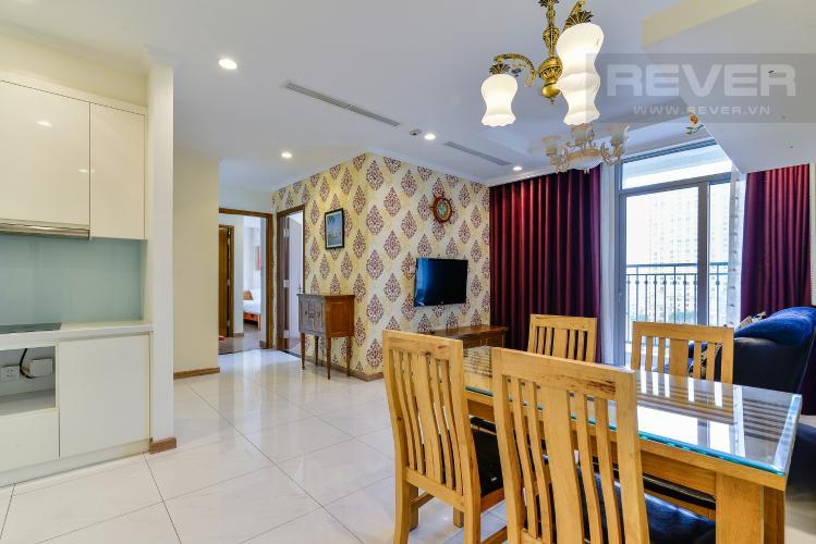 Phòng Khách Căn hộ Vinhomes Central Park 2PN đầy đủ nội thất, có thể dọn vào ở ngay