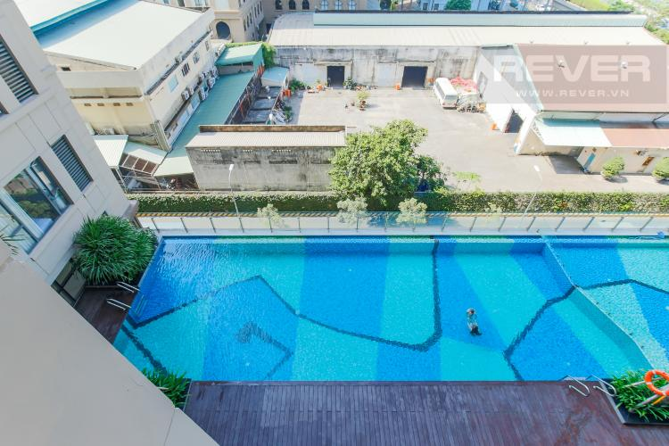 View Bán căn hộ The Tresor 1PN 1WC, đầy đủ nội thất, view hồ bơi