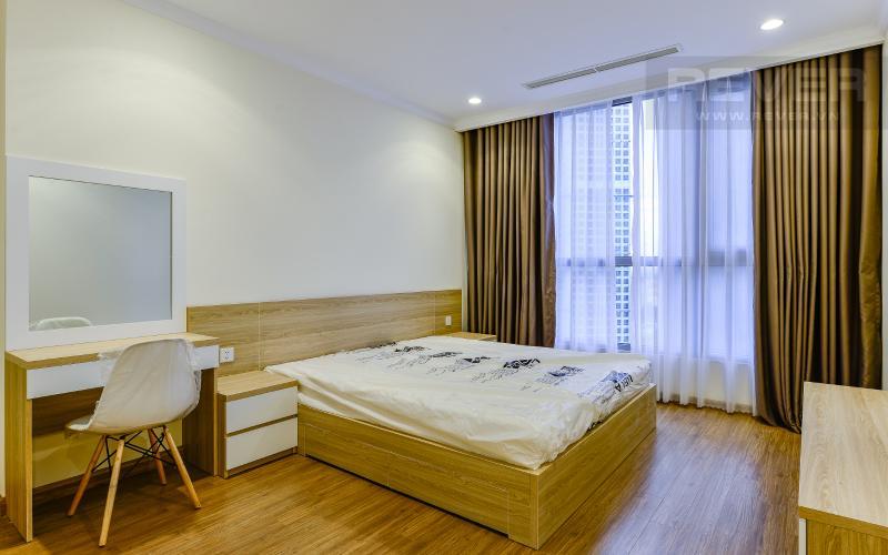 phòng ngủ 1 Căn hộ Vinhomes Central Park trung tầng Landmark 1 view nội khu