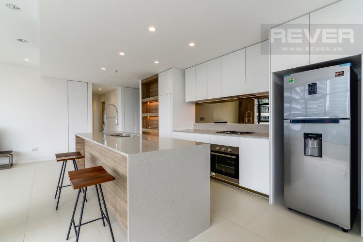 Bếp Cho thuê căn hộ City Garden tầng thấp, 3PN đầy đủ nội thất, có thể dọn vào ở ngay