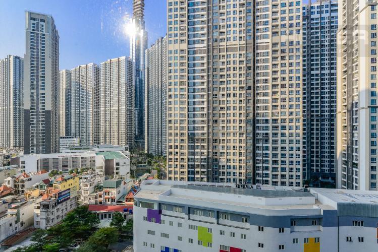 View Phòng Ngủ Căn hộ Saigon Pearl 2 phòng ngủ tầng thấp R2 nội thất đầy đủ