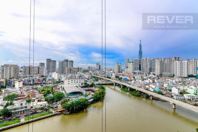View Căn hộ Vinhomes Golden River tầng thấp, tháp Aqua 1, 2 phòng ngủ, view sông
