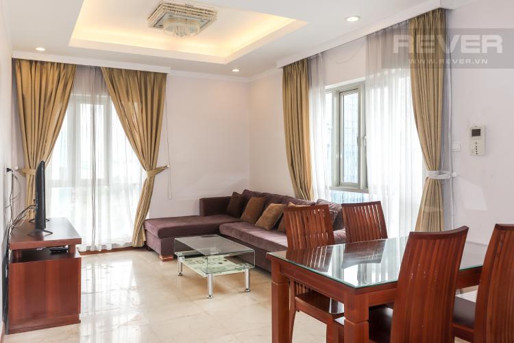 Phòng Khách Cho thuê căn hộ Saigon Pavillon 3PN, diện tích 94m2, đầy đủ nội thất, view đường Bà Huyện Thanh Quan