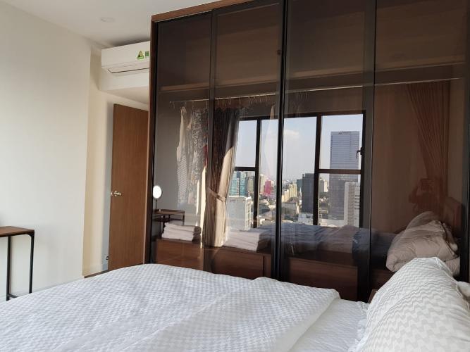 Phòng ngủ Saigon Royal Quận 4 Căn hộ Saigon Royal tầng cao, ban công Tây Bắc view sông.